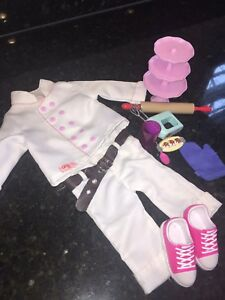 """18"""" Doll Bakers outfit with accessories"""