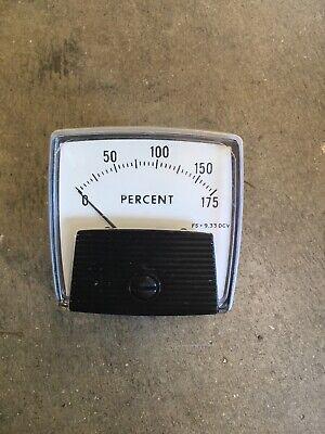 Crompton Instruments 0-175 Percent Meter Gauge Electrical Test Equipment