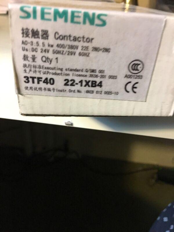 SIEMENS. CONTACTOR 3TF40-22-obb4.   24Vdc