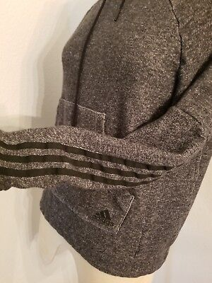 Adidas Hooded Pullover Sweater Sz S Womens Heather Gray