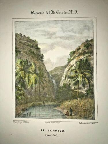 REUNION ISLAND SAINT PAUL 1847 ROUSSIN LARGE NICE ANTIQUE VIEW 19 CENTURY