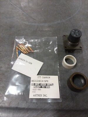 Ms3120e14-5px Mil Spec Connector And Pins New