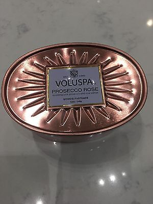 Voluspa Prosecco Rose 2 Wick Decorative Oval Tin Candle 12oz ()