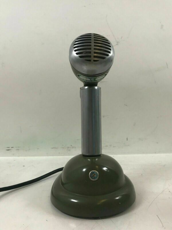 Vintage Shure 520-SL RARE Custom Black Bullet Microphone with S30 stand