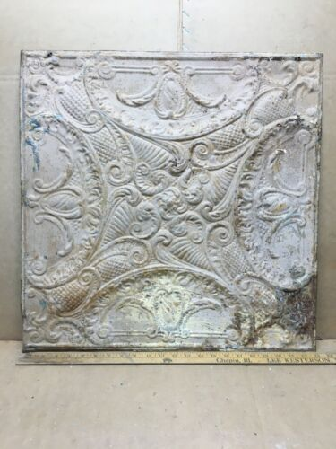 """1pc 23"""" x 23"""" Full Piece Antique Ceiling Tin Vintage Reclaimed Salvage Art Craft"""
