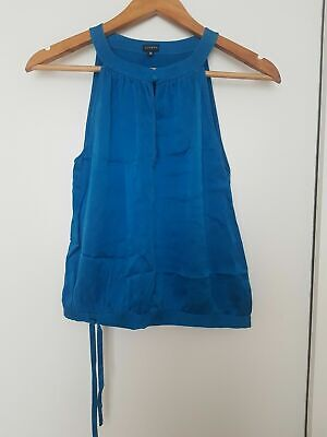 Joseph Blue 100% Silk Top. Size 38 (UK 10)