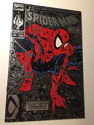 Spider Man  1 Nm  White Pages  Never Read   Silver Edition