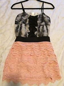 Women's skirt and top and black party dress