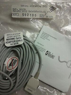 Invivo Millennia Masimo 9217b Spo2 12 Ft Adapter Cable Patient Monitor Pulse Ox