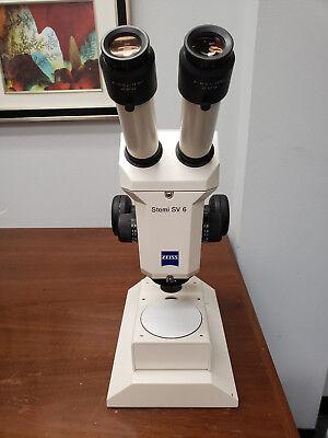 Zeiss Stemi Sv6 Stereo Zoom Microscope