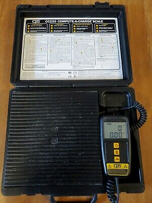 Cps Cc220 Compute A Charge 220lb Electronic Refrigerant Charging Recovery Scale