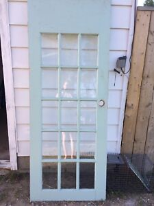 12 panel glass door