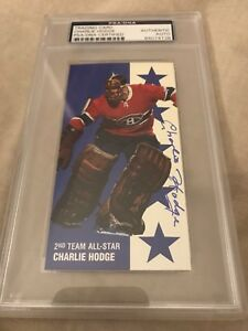 Charlie Hodge PSA Certified Autographed Hockey Card