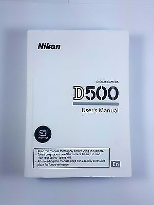 Nikon D500 500 Genuine Instruction Owners Manual D500 Book Original NEW