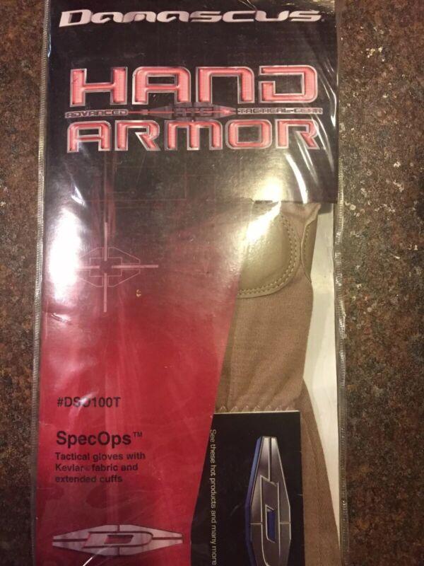 Special Ops Damascus #DSO100T Hand Armor Desert Sand Gloves w/ Kevlar Liner XXXL