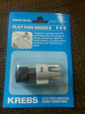Krebs 3040 Flat Fan Nozzle F5 S Part No. 7-06-10 New. Airless Sprayer. Wagner