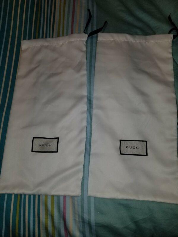 Gucci Shoe Dust Bags Pair Ace Dublin Guccisima Supreme Ronnie Rhyton Coda GG