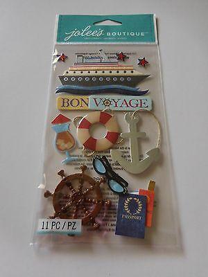 Scrapbooking Crafts Jolee's Stickers Bon Voyage Ship Anchor Wheel Passport Star (Bon Voyage Stickers)