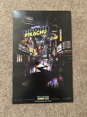 Pokemon Walmart (Pokemon Detective Pikachu Double Sided Promo Poster -Walmart Exclusive)