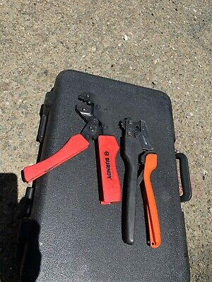 T B Thomas Betts Sta-kon Comfort Crimp Tool And A Burndy Crimper