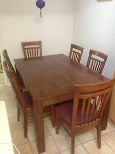 Dining Table and Chairs Keiraville Wollongong Area Preview