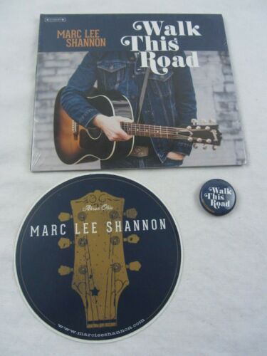 CD New MARC LEE SHANNON Walk This Road - Cleveland Rust belt singer, STICKER PIN
