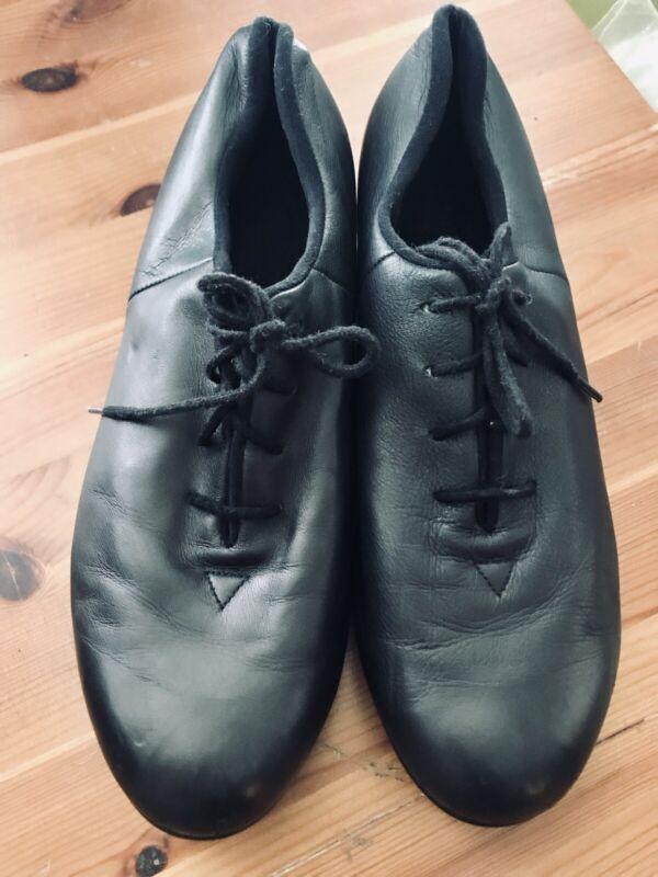Bloch Black Tap Shoes Size 8 1/2 Medium Shockwave #2 All Leather Jazz Women's