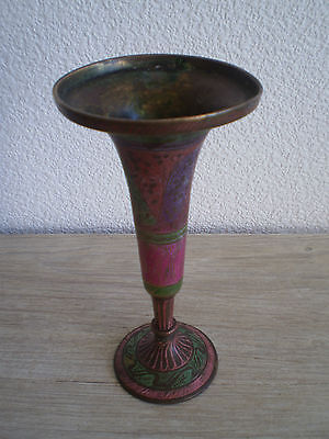 Burner Perfume Oriental Bronze Brass Carved Decore Antique, Vgc, Vase Cut No ° 1