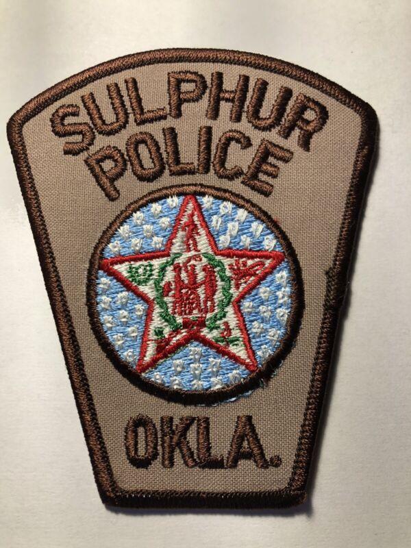 Sulphur Oklahoma Police Patch