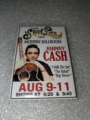 """Johnny Cash Early Concert Refrigerator Magnet 2"""" X 3"""""""