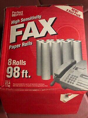 Perfect Print High Sensitivity Fax Paper Roll 6 Rolls 98 Ft X 8 12 In