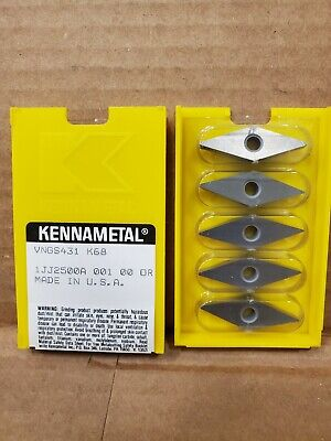 5 New Inserts Kennametal Vngs 431 K68