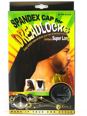 KING.J UNISEX SUPER LONG SPANDEX CAP FOR DREADLOCKS (705 & 706) - Hat For Dreadlocks