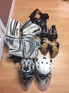 Goalie and player equipment