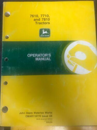 John Deere 7610 7710 7810 Tractors Operators Manual OMAR116770