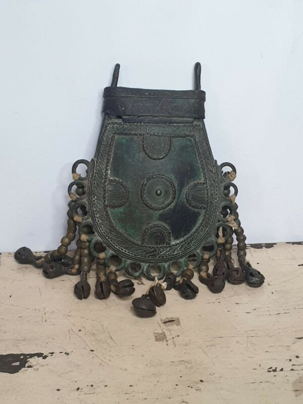 Vintage African Tribal Benin Bronze Bag