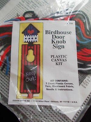 Door Knob Kit (Birdhouse Door Knob Sign Plastic Canvas Kit - Design Works)