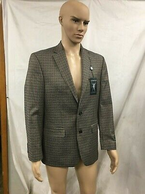 RALPH LAUREN MENS BROWN PLAID SPORT COAT 38R SEPERATES BRAND NEW