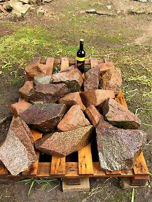 RECLAIMED GRANITE BOULDERS ROCKS ROCKERY WALLING PATIO  STONE HINCKLEY