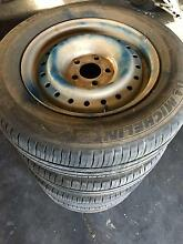 """Set of 15""""wheels 5x114.3pcd with good tyres East Victoria Park Victoria Park Area Preview"""