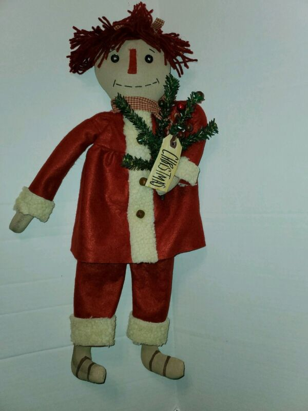 Primitive Christmas Annie Doll
