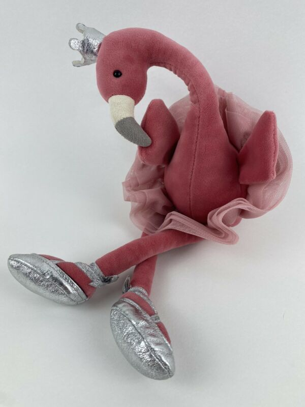"Jellycat Fancy Flamingo Pink Plush Stuffed Animal Ballerina 15"" tall with tags"