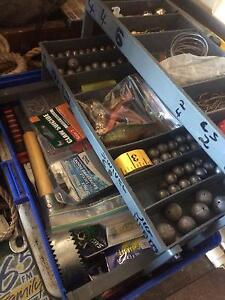 Fish and tackle box for sale with lots off tackle inside Plainland Lockyer Valley Preview