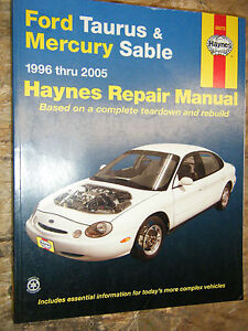 1996 2005 ford taurus mercury sable haynes repair manual. Black Bedroom Furniture Sets. Home Design Ideas