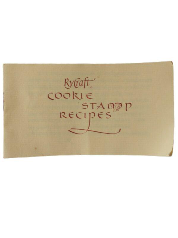 Rycraft Cookie Recipe Booklet ONLY Pamphlet Stamps Vintage 1970s Paper Ephemera