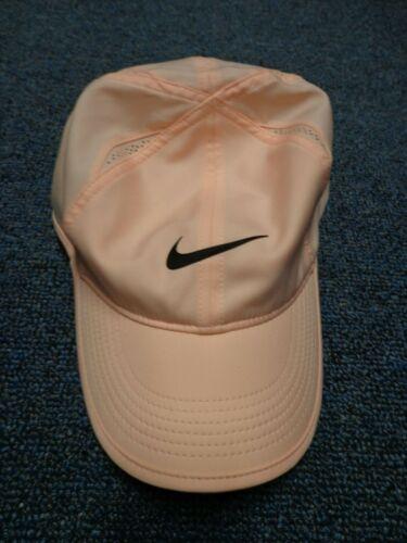 NIKE Women FEATHERLIGHT DRI-FIT Runner/Tennis Hat  light Peach NWOT