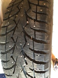 235/60R17 New Studded Toyo Winter tires with rims and scensors