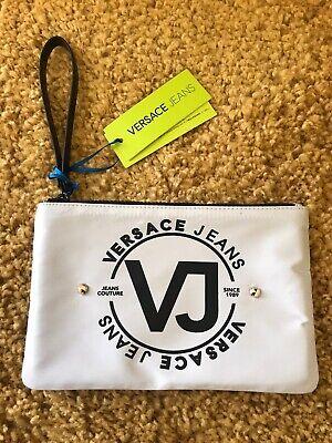 BNWT Genuine Versace Jeans Wristlet/Purse In Grey