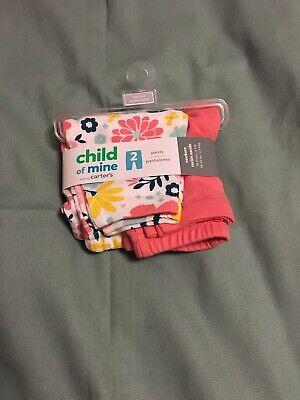 PREEMIE GIRL BABY PANTS CLOTHING 2 Pack SPRING