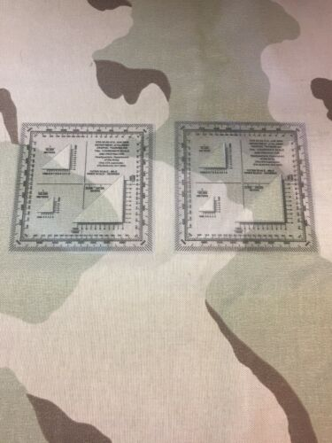 U.S.G.I. ARMY GRID COORDINATE SCALE AND PROTRACTOR-LOT OF 2-LAND NAVIGATION